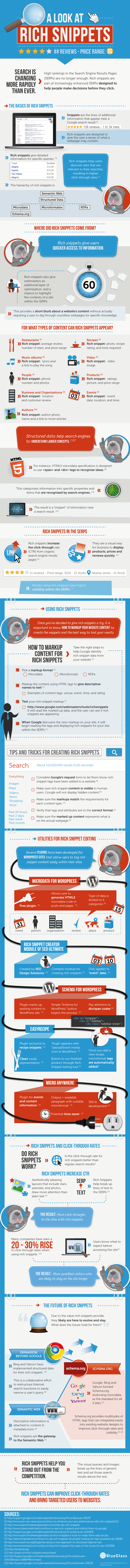 a look at rich snippets infographic