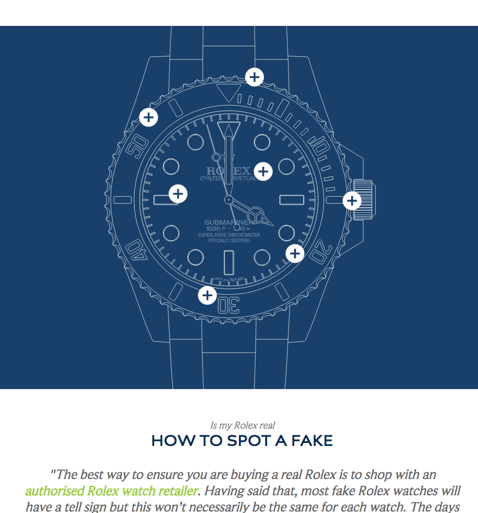 Is My Rolex Real, How To Spot a Fake infographic