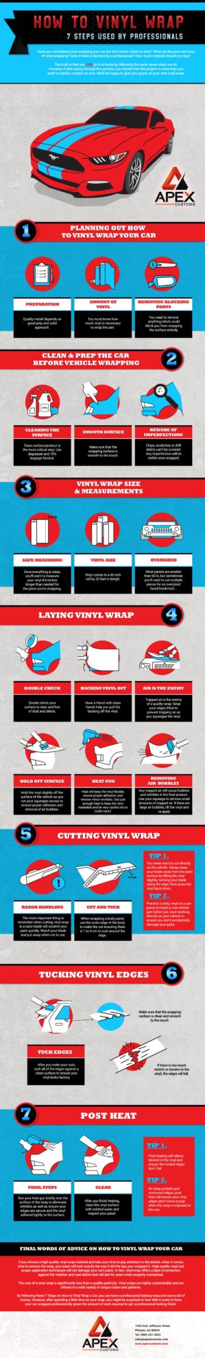 How To Vinyl Wrap, Steps From the Professionals Infographic